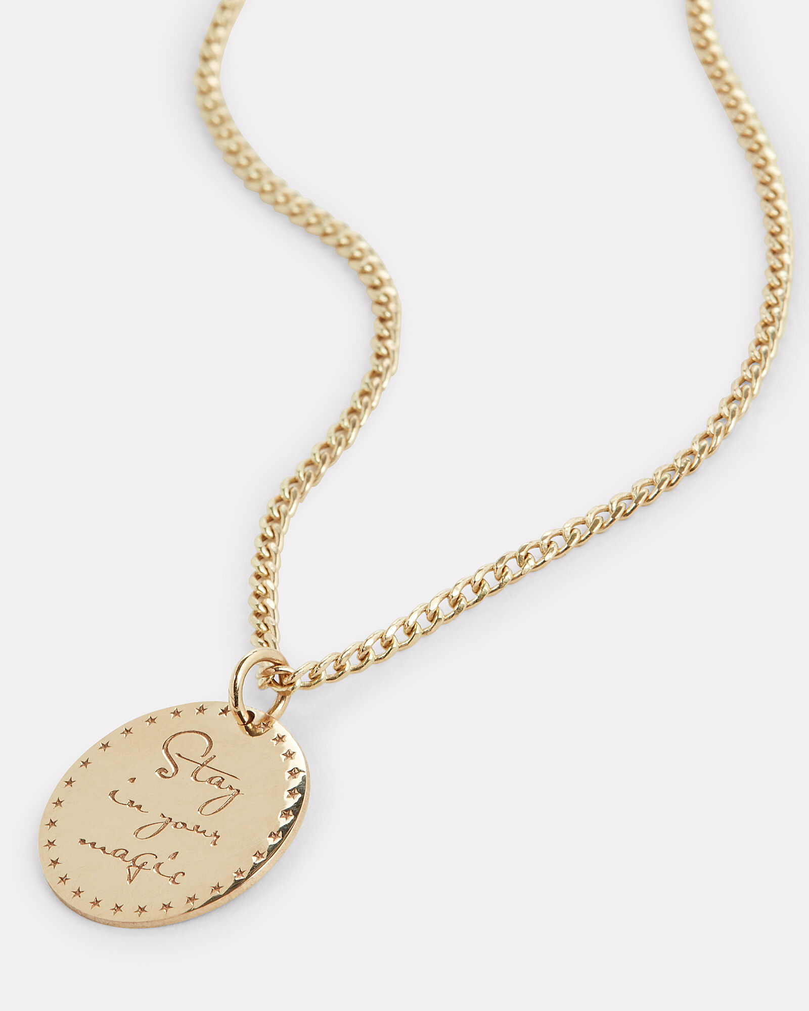 Gold Mantra Pendant Necklace, GOLD, hi-res