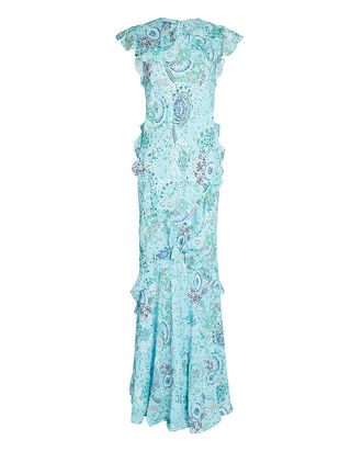 Tamara B Ruffled Gown, LIGHT BLUE, hi-res