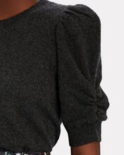 Frankie Puff Sleeve Cashmere Sweater, GREY, hi-res