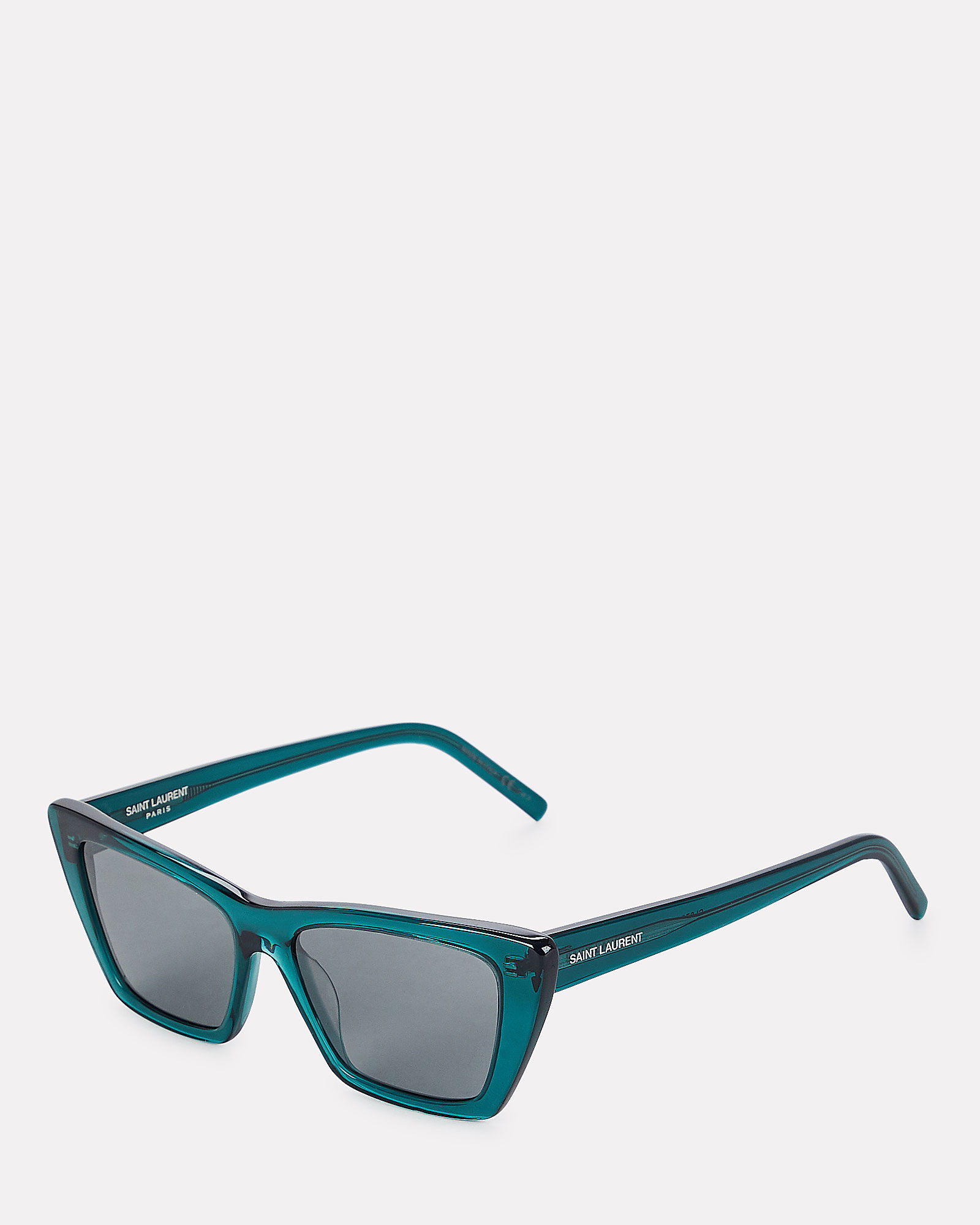 Mica Cat Eye Sunglasses, GREEN, hi-res