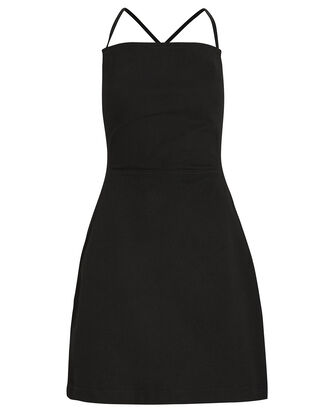 Fabienne Raw Denim Apron Dress, BLACK, hi-res