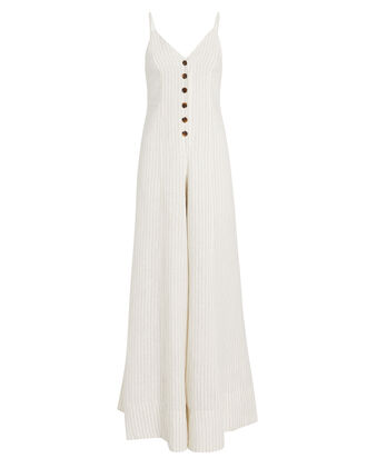 St. Kitts Linen Jumpsuit, IVORY, hi-res