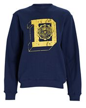 University Logo Cotton Sweatshirt, NAVY, hi-res