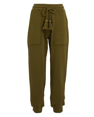 Charley Knit Fleece Joggers, GREEN, hi-res