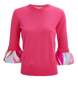 Bell Sleeve Top, PINK, hi-res