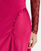 Sateen Lingerie Lace Dress, RED, hi-res