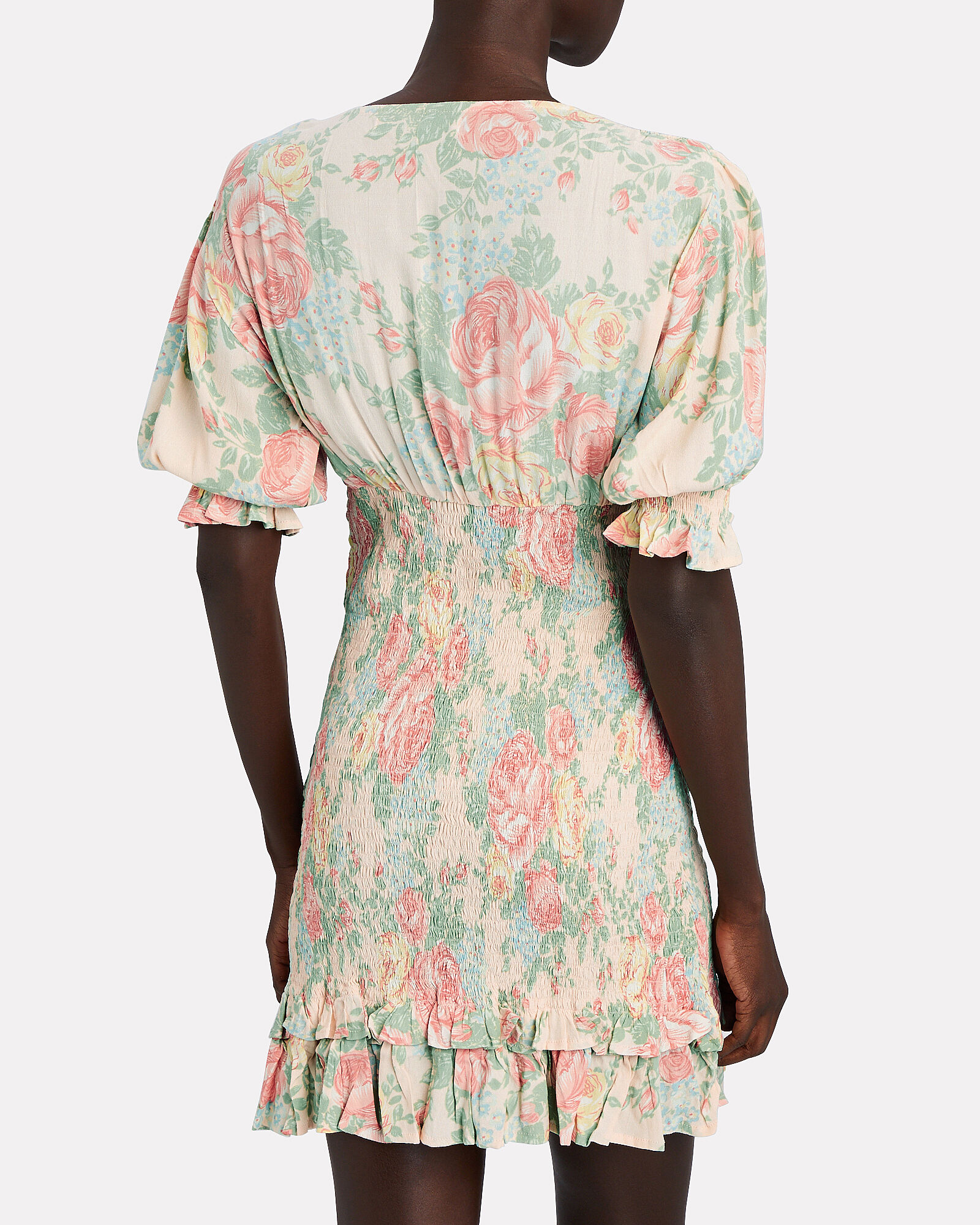 Margherita Floral Mini Dress, MULTI, hi-res