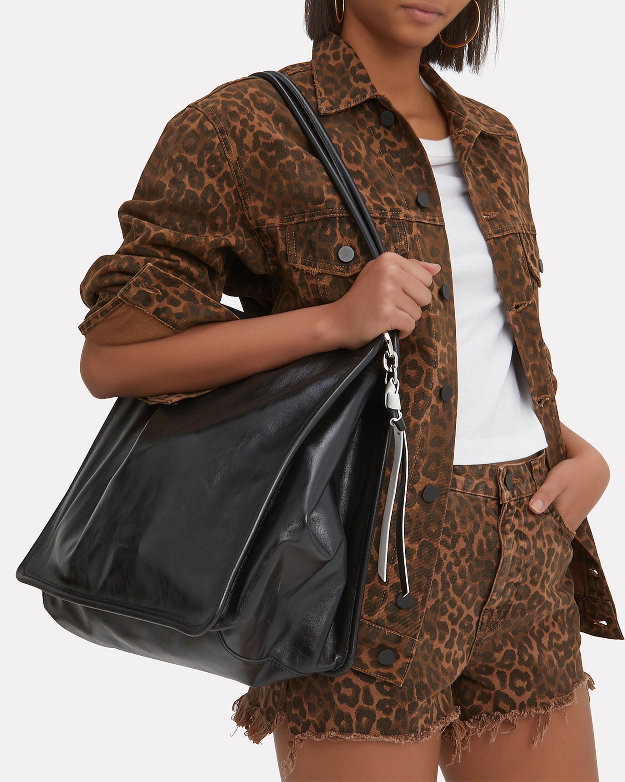 Extra Large Black Tote, BLACK, hi-res