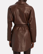 Madi Mini Leather Tunic Dress, BROWN, hi-res