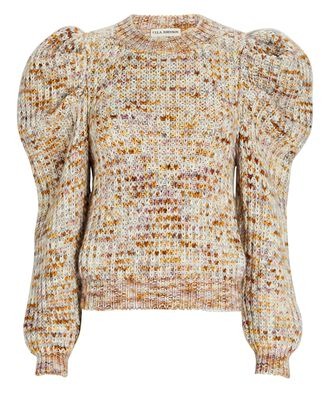 Rosina Heather Puff Sleeve Sweater, BEIGE, hi-res