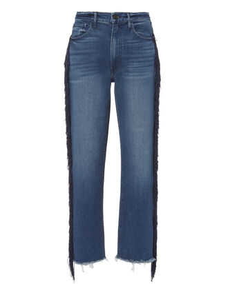 W3 Spanish Higher Ground Fringe Jeans, BLUE-MED, hi-res