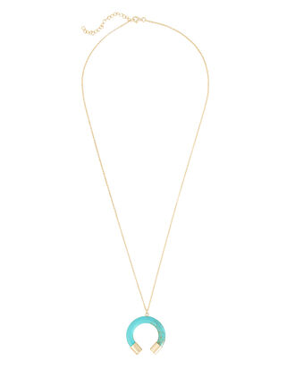 Horn Turquoise Necklace, BLUE-LT, hi-res