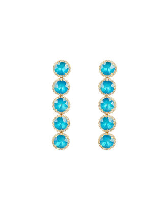 Maya Crystal Stone Earrings, BLUE/GOLD, hi-res
