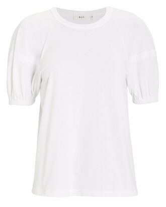 Lou Lantern Sleeve T-Shirt, WHITE, hi-res