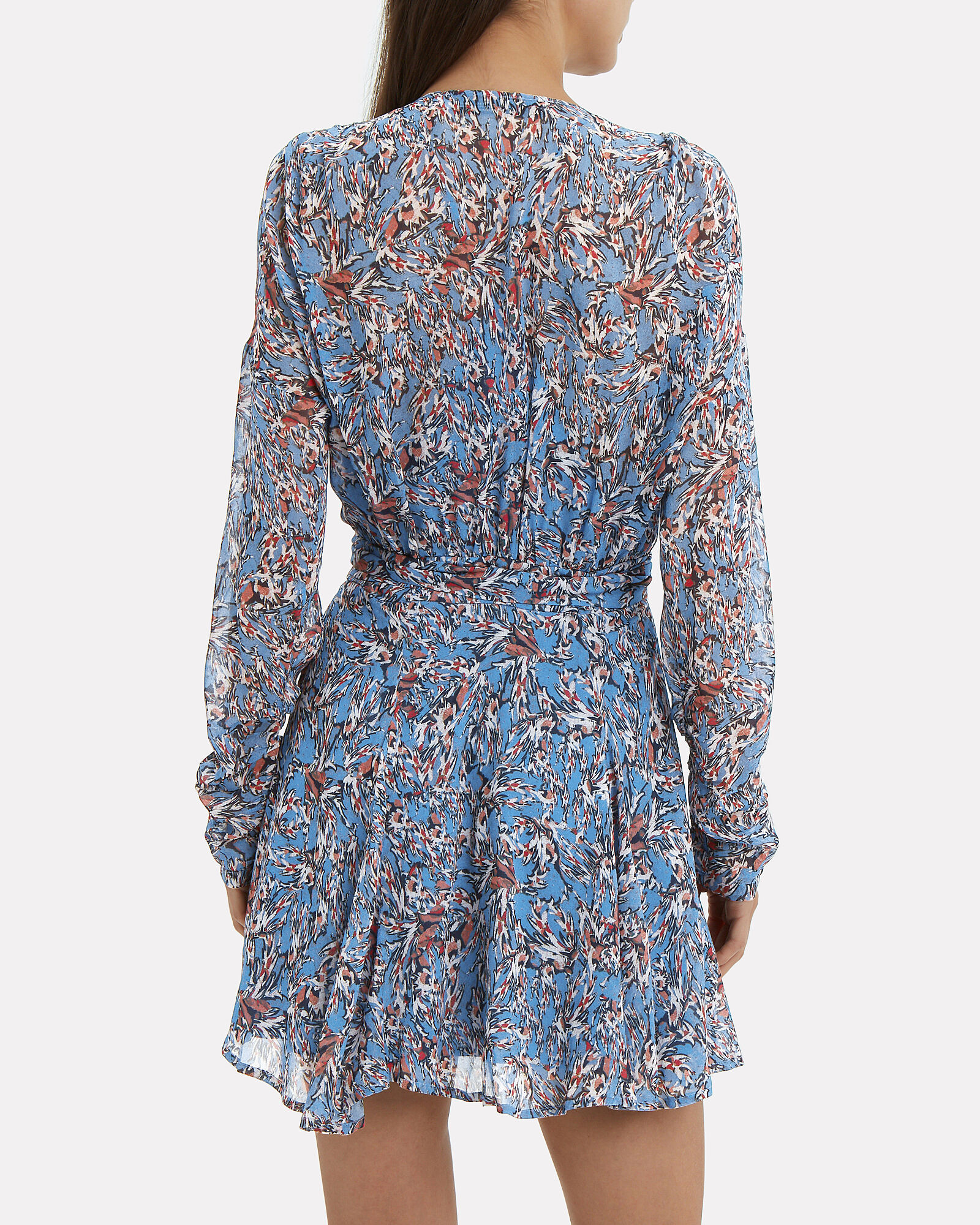 Bustle Mini Dress, BLUE-LT, hi-res
