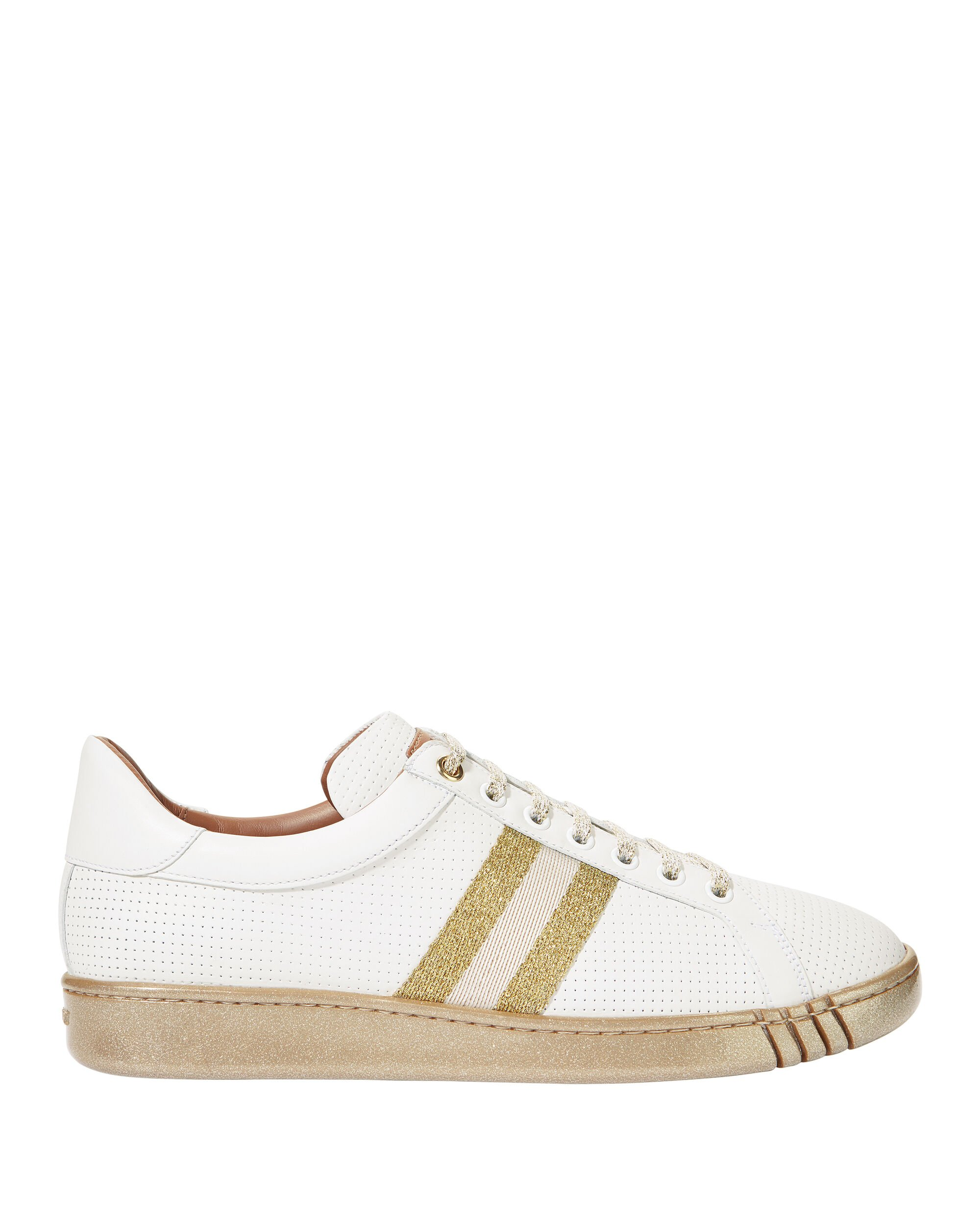 Wicki Glitter Striped Trainer Sneakers, WHITE, hi-res