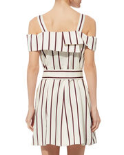Edrea Striped Mini Dress, WHITE, hi-res