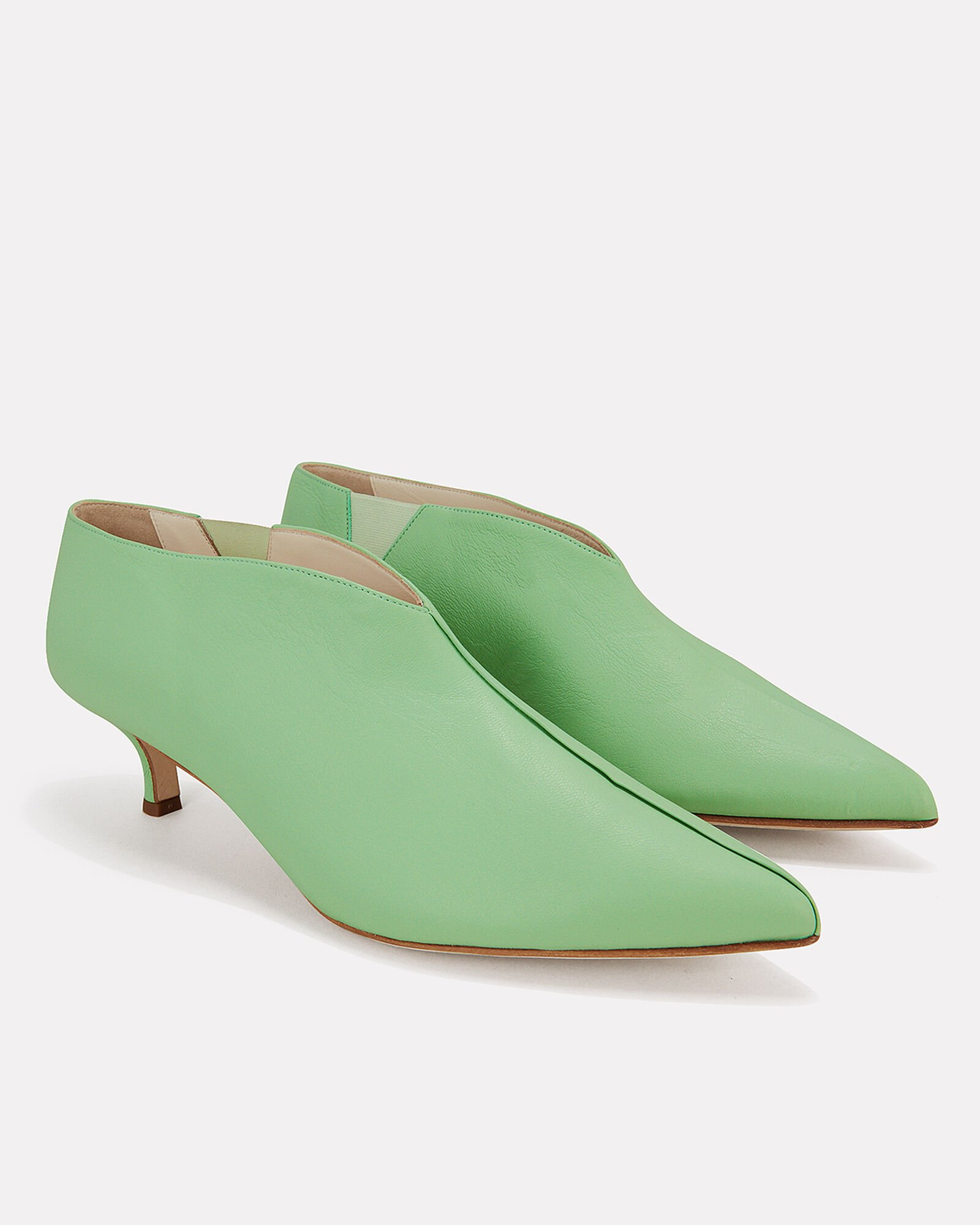 Joe Kitten Heel Booties, GREEN-LT, hi-res