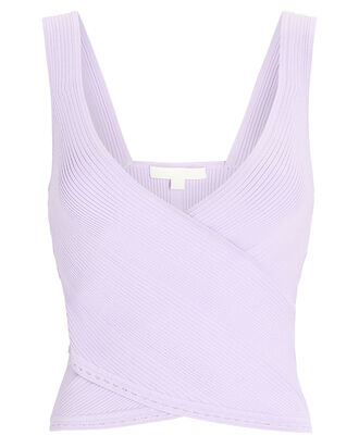 Jada Crossover Rib Knit Top, PURPLE-LT, hi-res