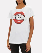 Pearl Lips Graphic T-Shirt, WHITE, hi-res