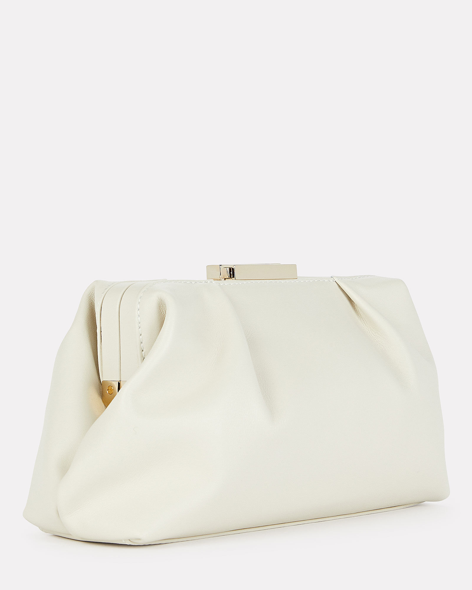 Mini Florence Soft Leather Pouch, IVORY, hi-res