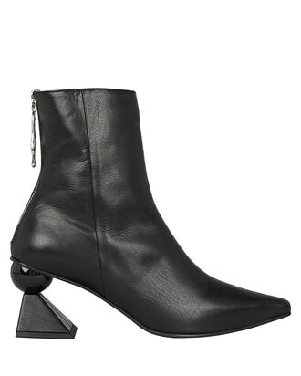 Amoeba Glam Abstract Heel Booties, BLACK, hi-res