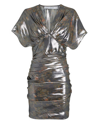 Mimeta Draped Metallic Dress, MULTI, hi-res