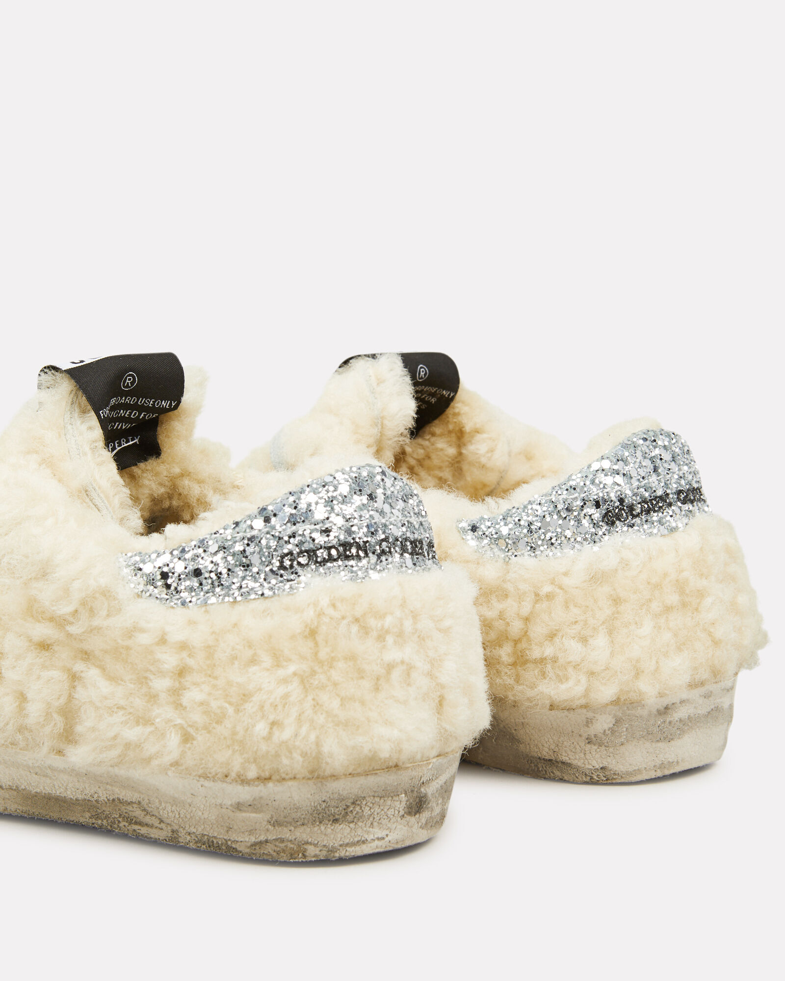 Superstar Shearling Low Top Sneakers, IVORY/SILVER, hi-res