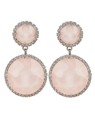 Pink Quartz Drop Earrings, PINK/CRYSTAL, hi-res
