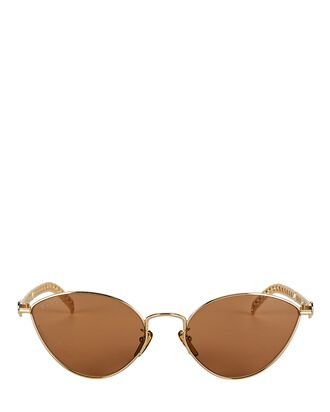 Extreme Cat Eye Wire Sunglasses, GOLD, hi-res