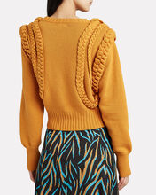 Yeva Cable Knit Sweater, MUSTARD, hi-res