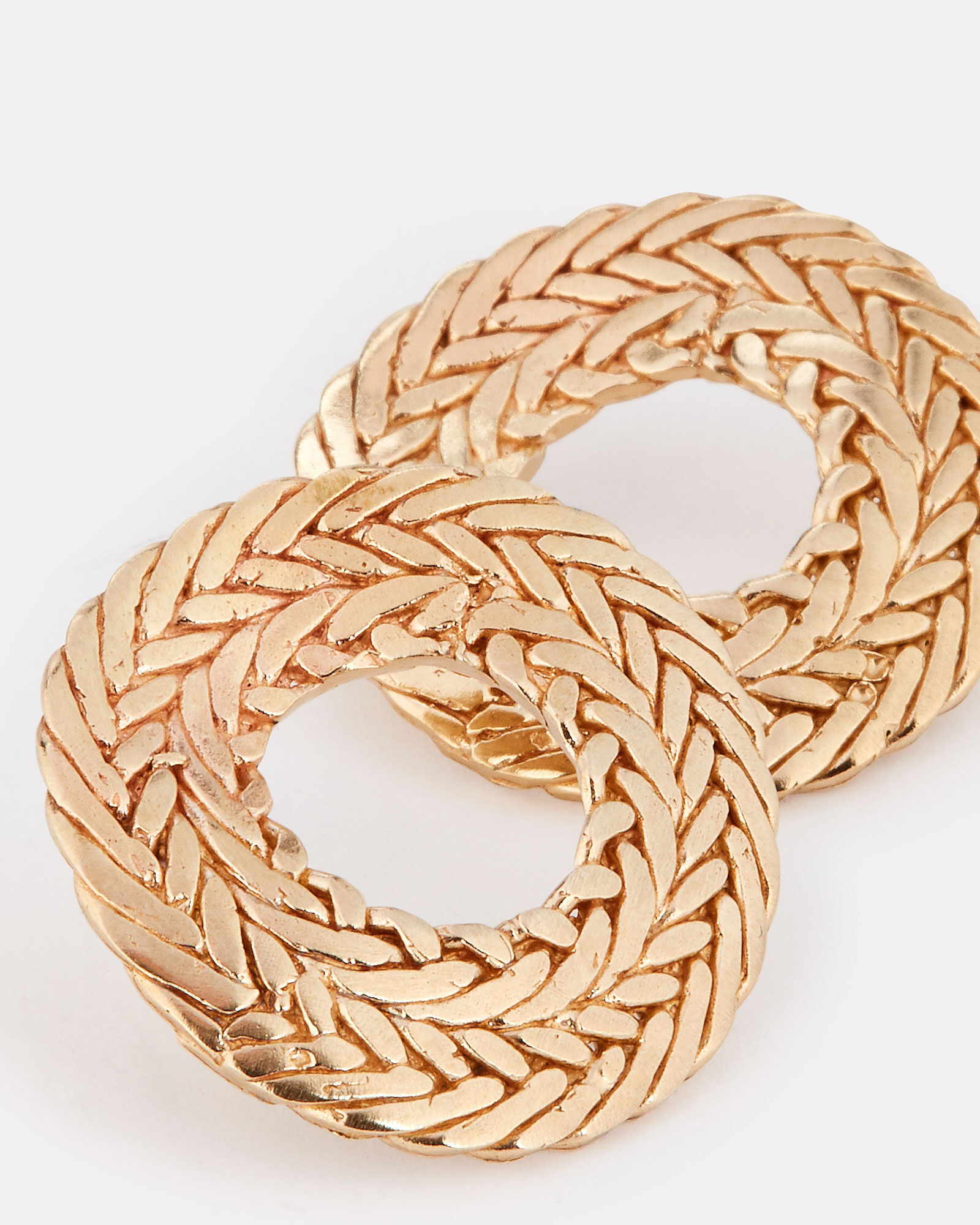 Petite Colette Braided Hoops, GOLD, hi-res