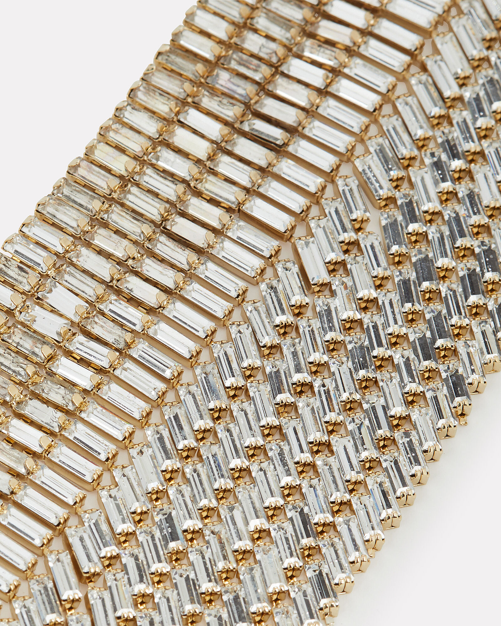 Barlume Crystal Fringe Choker Necklace, CLEAR/GOLD, hi-res