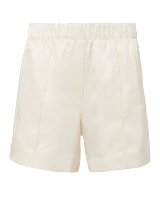 Silk Ivory Shorts, IVORY, hi-res