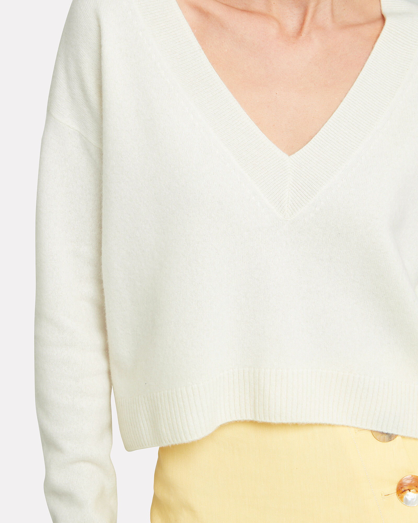 Elroy Cashmere Sweater, IVORY, hi-res
