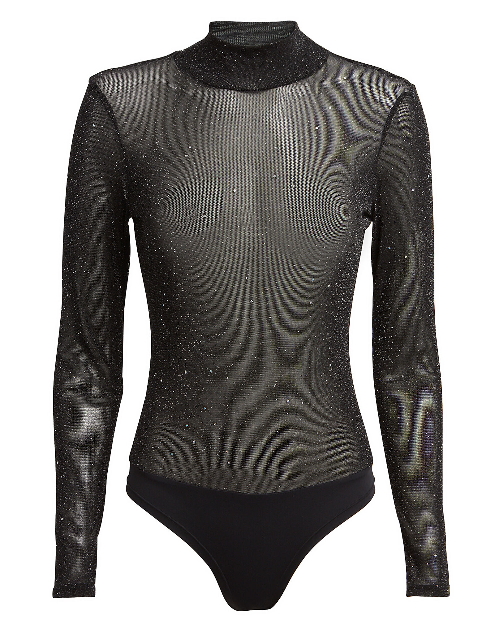 Coraline Glitter High Neck Bodysuit, BLACK, hi-res