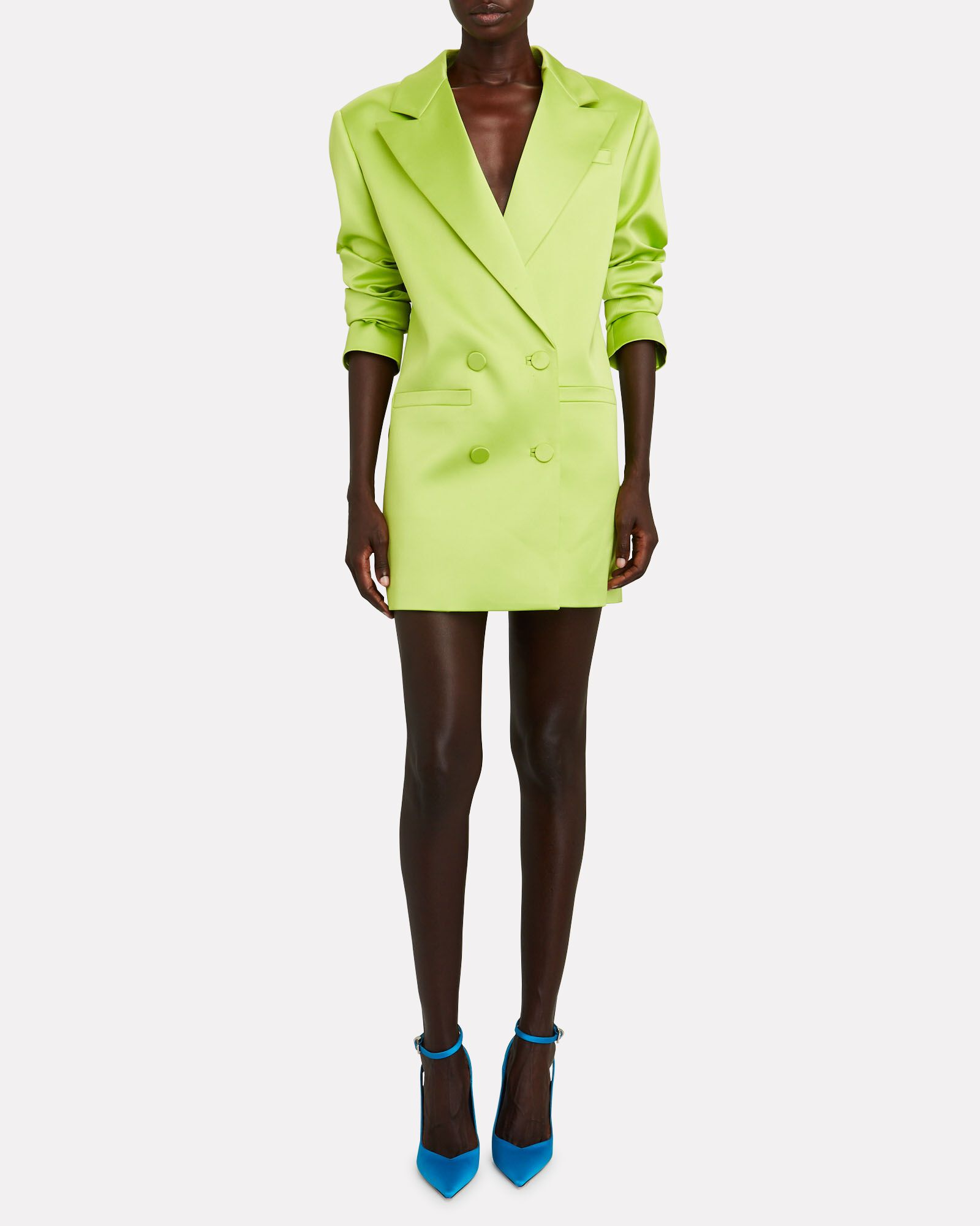Tunja Mini Blazer Dress, GREEN, hi-res