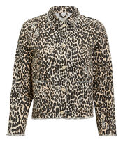 Kayla Leopard Print Jacket, BROWN, hi-res