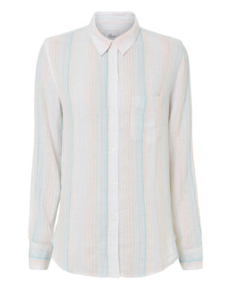 Marbella Stripe Button Down Shirt, MULTI, hi-res