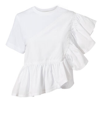 Flamenco Ruffle Tee, WHITE, hi-res