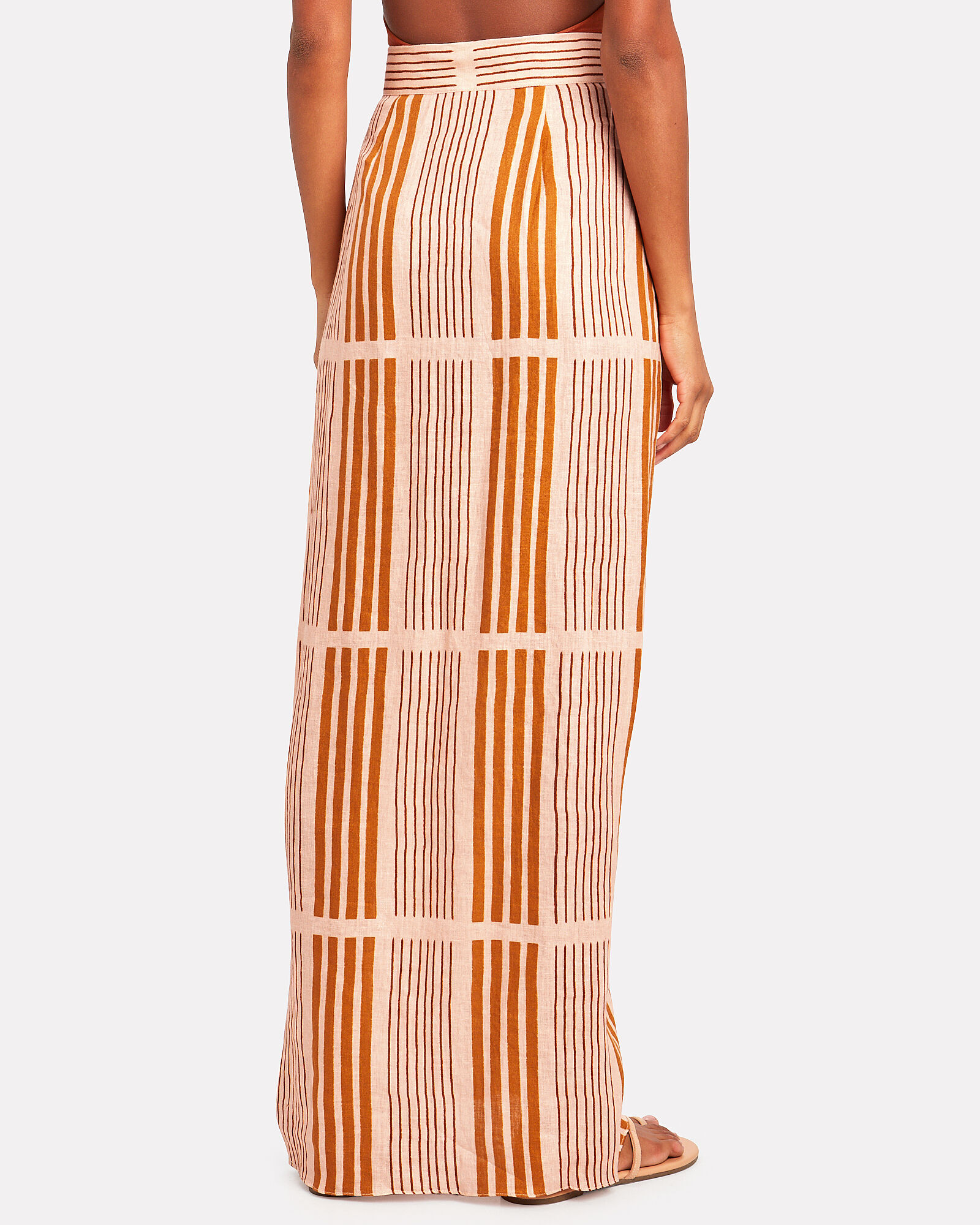 Directional Hypothesis Pareo Skirt, PALE PINK/OCHRE, hi-res