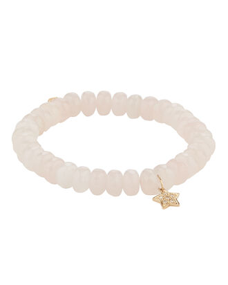 Rose Quartz Diamond Star Bracelet, PINK, hi-res