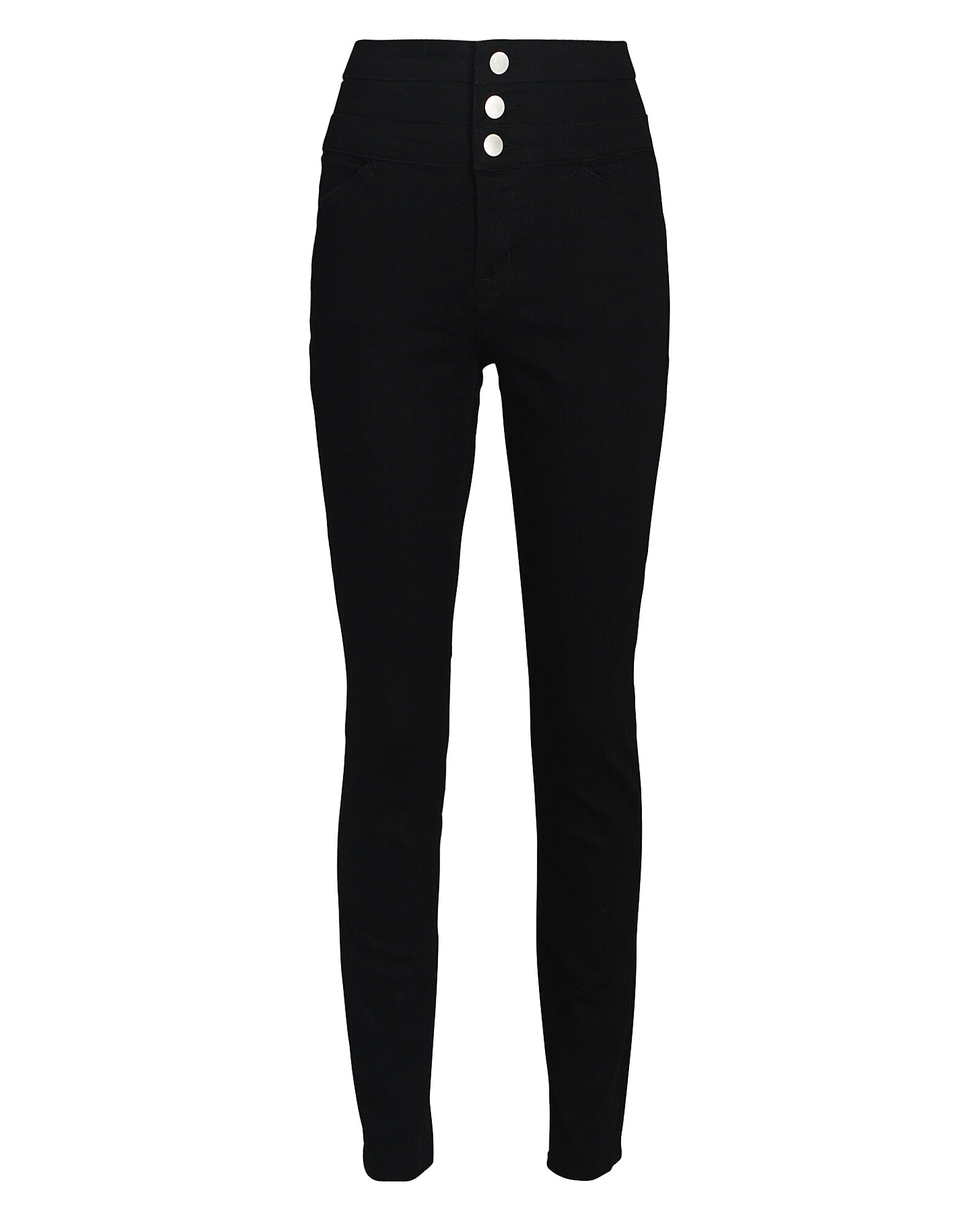 Annalie High-Rise Skinny Jeans, BLACK, hi-res