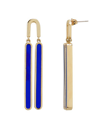 Reflection Cobalt Swing Earrings, cobalt/gold, hi-res