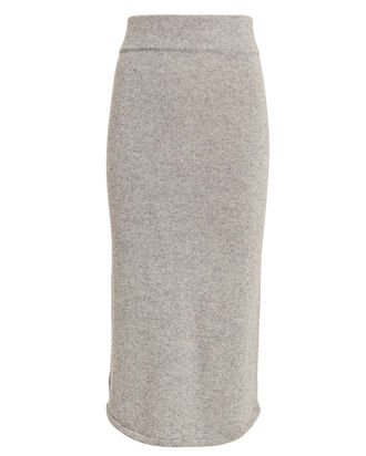 Leslie Knit Midi Skirt, PEWTER, hi-res