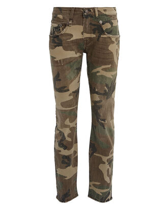 Boy Skinny Camouflage Jeans, OLIVE CAMOUFLAGE, hi-res
