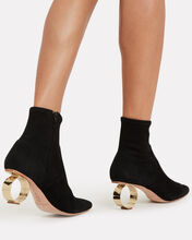 Kassidy Circle Heel Booties, BLACK, hi-res