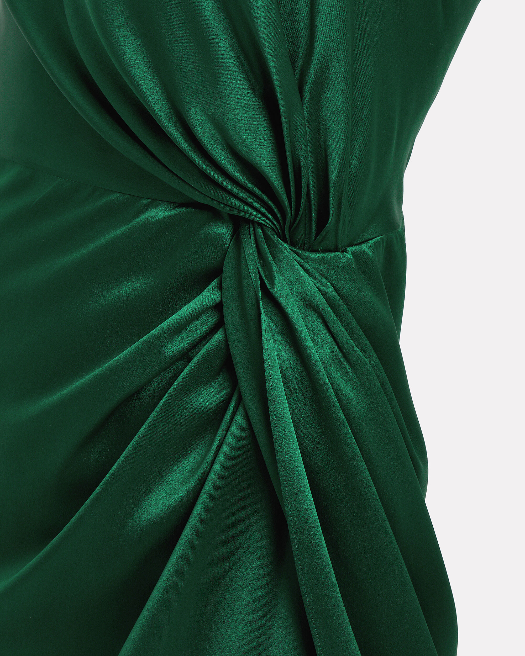 Twist Knot One Shoulder Emerald Dress, EMERALD, hi-res