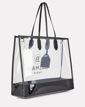 Medium Logo PVC Shopper, CLEAR, hi-res