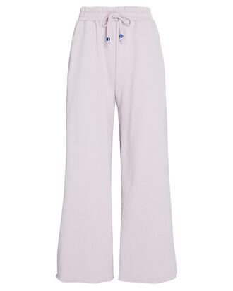 Logo Cropped Wide-Leg Sweatpants, LIGHT PURPLE, hi-res